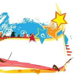 banner design with paint background vector image vector image