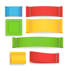 color label fabric blank realistic fabric vector image