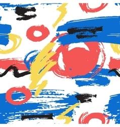 Grunge hand drawn brush stroke pattern vector image