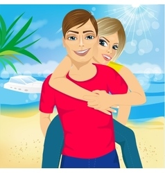 Happy couple in love vector image vector image