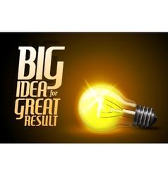 realistic glowing light bulb Idea vector image