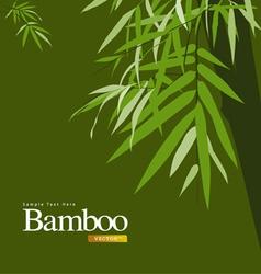 bamboo greeting card vector image vector image