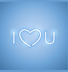i love you blue neon banner vector image