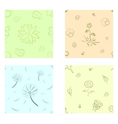 Nature seamless set vector image vector image
