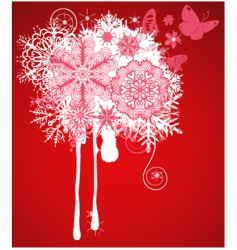 abstract Christmas background vector image vector image