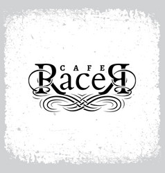 cafe racer vector image vector image
