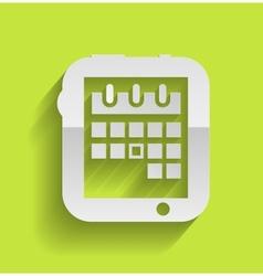 Calendar icon modern flat design vector image