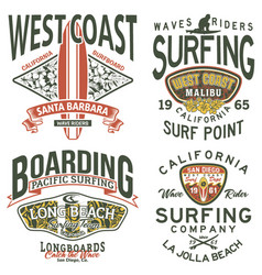 california west coast surfing team vector image
