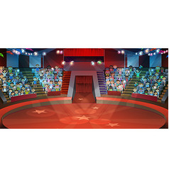Circus arena background vector image vector image