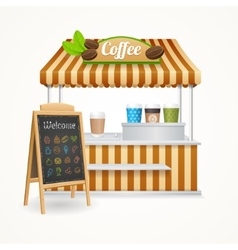 Coffee Street Market Set vector image vector image