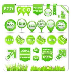 green eco design elements vector image vector image