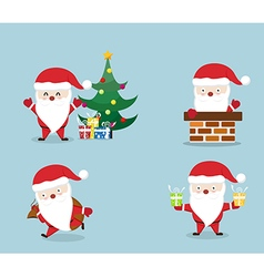 merry christmassanta claus set vector image vector image