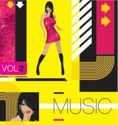 modern music vector image