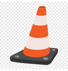 Road traffic orange cartoon cone vector image vector image
