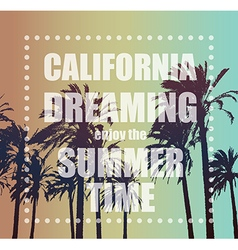 Summer Exotic Banner with Palms vector image vector image