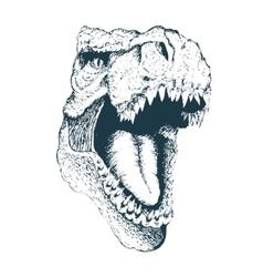 T-rex head vector image vector image