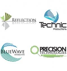 technical logos vector image vector image