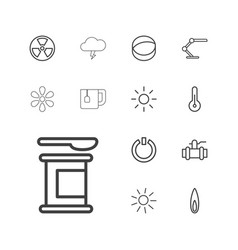 13 energy icons vector