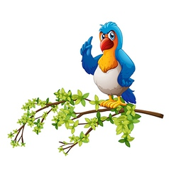 A parrot above the branch of a tree vector image