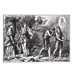 Adam and eve are punished and cast out of the vector