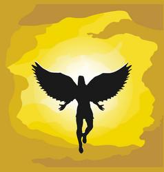 angel in sky vector image