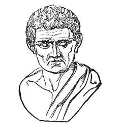 Aristotle vintage vector