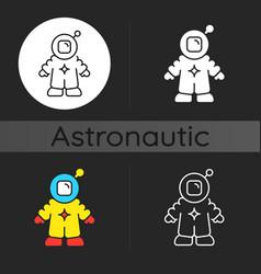 astronaut dark theme icon vector image
