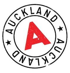 Auckland stamp rubber grunge vector