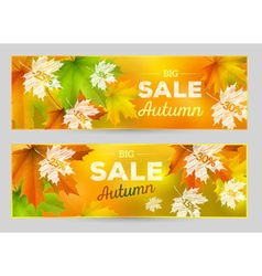 Autumn Sale horizontal banner vector image