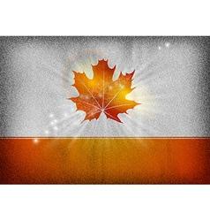 background autumn grey orange vector image