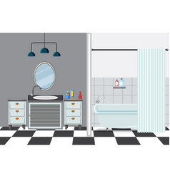 Bathroom with tub and sink vector