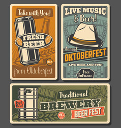 Beer and brewery oktoberfest celebration vector