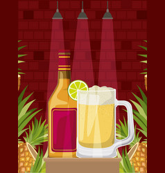 Best drink with cup alcoholic vector