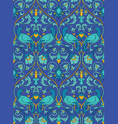 Blue pattern with birds vector