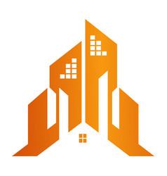 building town construction concept design symbol vector image