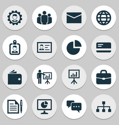 Business icons set collection of payment vector