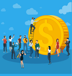 business team work concept vector image