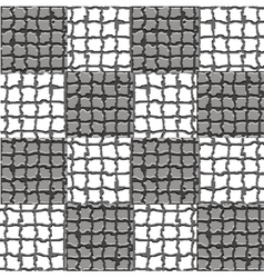 Checkered mosaic pattern vector