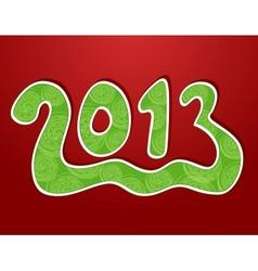 Christmas ornamental background 2013 vector image