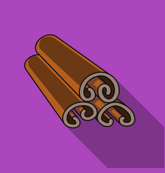 cinnamon icon in flat style isolated on white vector image