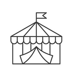 Circus tent icon amusement park related line style vector