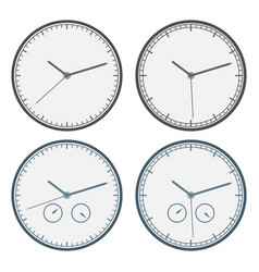 clock icon set outline isolated vector image