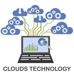 clouds technology concept vector image vector image