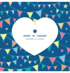 Colorful doodle bunting flags heart silhouette vector