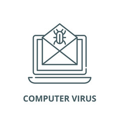 computer virus line icon linear concept vector image