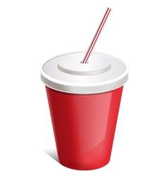 Cup soda vector