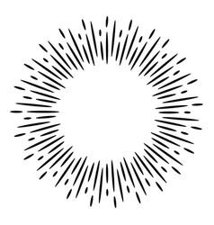 design elements sunburst explosion effect vector image