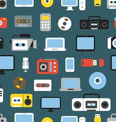 Different media devices color seamless background vector image