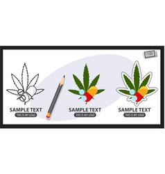 drugs logo vector image