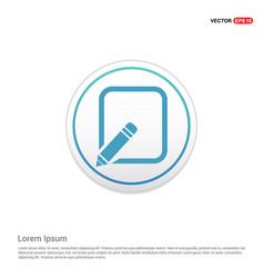 Edit pencil icon - white circle button vector